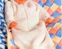 baby sleeping bag knitting pattern crochet blanket entrelacs blanket chunky 16-18 inch chest 36x24 cover baby knitting pattern pdf download
