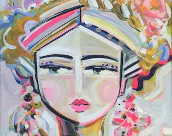 Warrior Girl Print, Greta, girl portrait, strong women