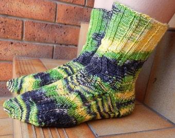 Hand Knitted Socks, wool socks, women's socks, knitted in Australia