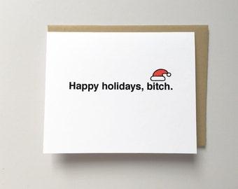 Funny Christmas card, Best friend Christmas card, Cheeky holiday card, Snarky happy holidays card, Boyfriend Christmas card, Funny xmas card