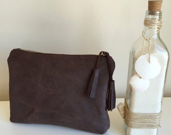 Distressed Leather Clutch,Brown Leather Bag,Boho Leather Clutch,Leather Clutch Bag,Distressed Leather Bag,Brown Leather Bag,Boho Clutch