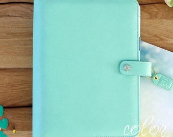 A5 Binder, Mint A5 Planner Notebook Planner, A5 Binder, Monthly Planner, Notebook Binder, Webster's Pages, Ring Binder, Color Crush, Gift