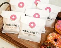 Wedding Favor Donut Bags : Wedding FavorDonut Bag and StickerWax Lined Favor Bag25 White ...