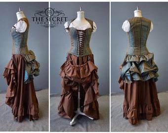 steampunk couture-steampunk costume-halloween-renaissance-the secret boutique-halloween-plus size-masquerade-sass-victorian-bustle dress