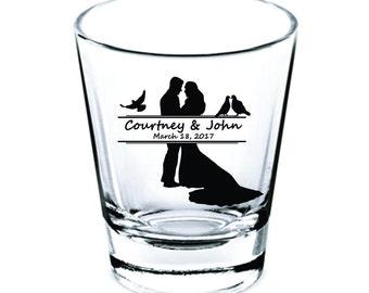 Wedding Shot Glasses - Wedding Favors - Party Favors - Shot Glasses - Shot Glass - Bachelorette Party - Bachelor Party - Custom Shot Glasses