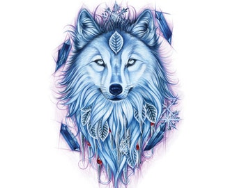 Wolf Tattoo Flash - Nature Tattoo Flash