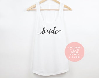 Bride Tank Top | Bride Tank | Bride Shirt | Bride Tanks | Bride Gift | Wedding Day Tank Top | Bride Gift | Bridesmaid Shirts
