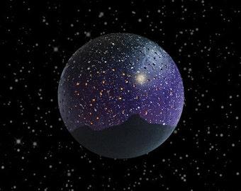 Landscape Galaxy Nightlight, Space Orb, Meditation Aid