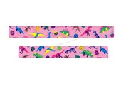 """Masté """"Dinosaur"""" Japanese Washi Tape - 20mm x 7m - Brightly Colored Fanciful Dinos and Eggs - Kids Craft Supply"""