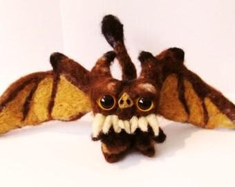 Needle felted Gargoyle Bat