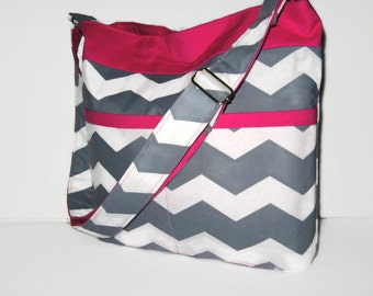 WOMEN'S CROSSBODY BAGS, Cross Body Purses, Chevron Bags, Cross Body Totes, Chevron Handbags, Book Bags, Diaper Bags, Handmade, Made To Order