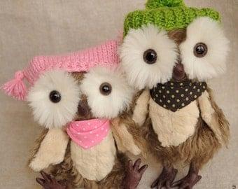 teddy owls Mr.Hoot & Minerva