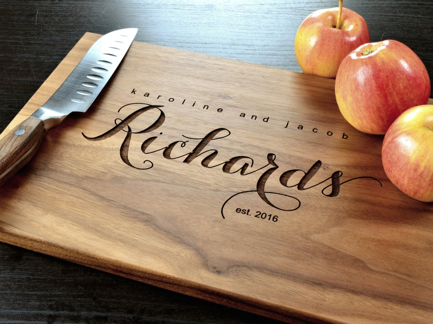 Wedding Photo Gift Ideas: Personalized Cutting Board-Engraved Custom Cutting Board