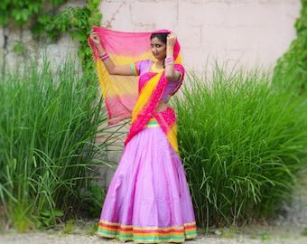 Rajastani colors, Gopi Dress, Gopi Skirt, Lenga, Gopi Skirt Outfut, Ghagra, Designer Lengha, Indian Wedding, Kirtan Skirt