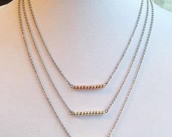 TOHO Layering Necklace, Mixed Metals, Seed Bead Jewelry, Seed Beads, Seed Bead Necklace, Statement Necklace, Mixed Metal Necklace, Boho Chic