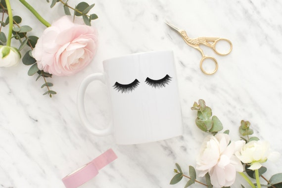 Eyelashes Mug, Eyelashes Coffee Mug, Eyelashes Coffee Cup, Makeup Mug, Girly Mug, Gift Best Friend, Gift For Her, Girly Gifts, Gift Sister