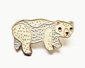 SALE: BEAR PIN - Bear Enamel Pin Polar Bear - Bear Jewelry - Soft Enamel Pin Soft Enamel Lapel Pin - Animal brooch pin