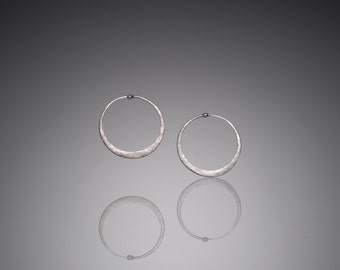 Extra Small Silver Hoop Earrings  // Mini 1 inch Hoops