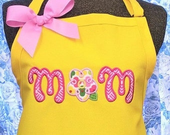 Mom Apron Kitchen Apron Mother's Day or Birthday Gift