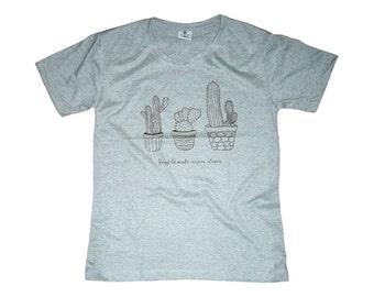 Cactus Shirt Cactus Tshirt Funny Shirt Men Tshirt Gifts for Gardeners T shirt Gardening TShirt Cartoon Drawing Tee Shirt