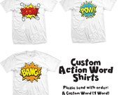 CUSTOM Action Word Comic Shirt