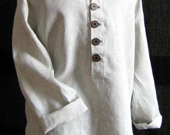Linen shirt men's/handmade men's shirt/men's linen shirt/mens shirt/linen shirt/Linen summer shirt/Long sleeve linen shirt/summer clothing