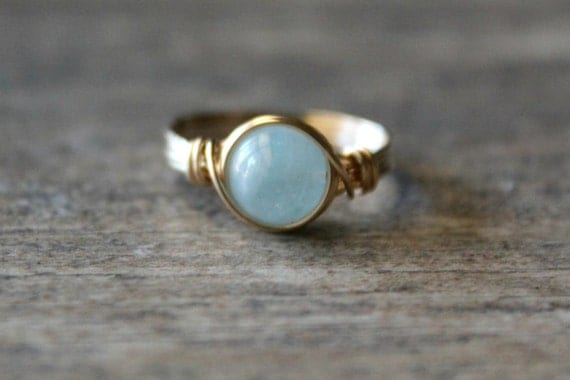 aquamarine pretty ring