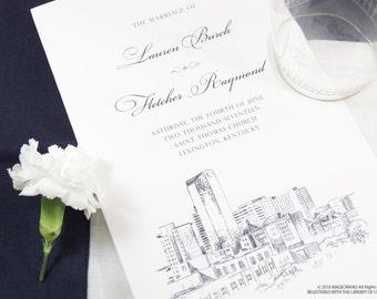 Lexington Skyline Wedding Programs (set of 25 cards)