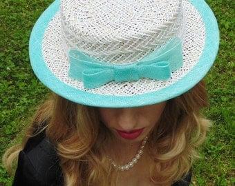 Dessert - a straw boater hat.