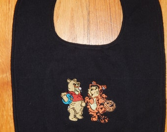 Baby Bib/Winnie the Pooh Bib/Pooh and Tigger Bib for Boy or Girl