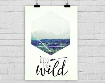 fine-art print poster INTO THE WILD