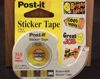 Vintage Post-it Removable Sticker Tape. Recognition. Unused