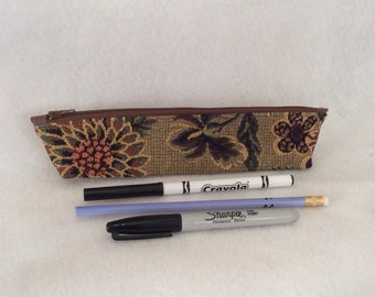 Tapestry Zippered Pencil Case