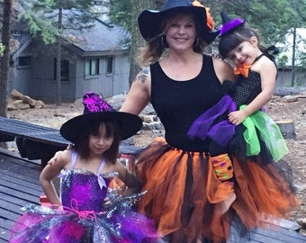 Adult Witch Tutu - Adult Witch Costume - Witch Costume - Halloween - Halloween Tutu - Teen Tutu - Adult Tutu - Witch - Halloween Costume