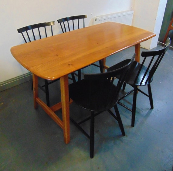 Vintage Ercol Trestle Dining Table in Elm Wood Seats Six : il570xN913545645r4gl from www.etsy.com size 570 x 564 jpeg 61kB