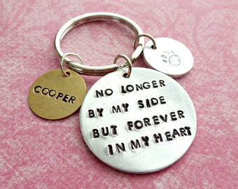 Pet Memorial Jewelry Pet Memorial Key Chain Personalized Jewelry Hand Stamped