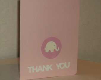 Elephant Baby Thank You Cards, Thank You Baby Cards, Baby Shower, Baby Girl, Congratulations, Thank You Cards, Baby Cards, Sale Today