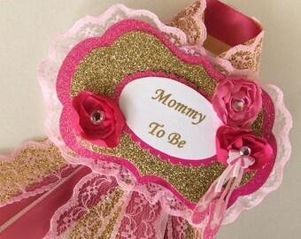 Ballerina baby shower corsage/Ballerina Mommy to Be corsage/Ballerina baby shower/Girl baby shower corsage/Elegant baby shower corsage