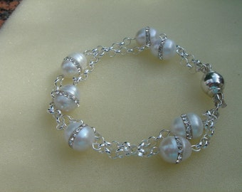 Pearl bracelet with 925 Silver! Exceptional Pearl!