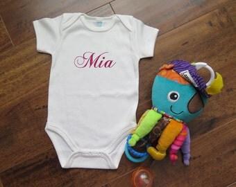 Custom Onesie- Customizable to baby's name - Cute onesie for baby shower gift  - Geeky Onesie - Science inspired  - Funny Onesie [004]