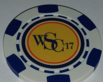 Monogrammed Poker Chip, Custom