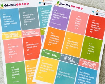 Set of 24 Motivational Quote Stickers