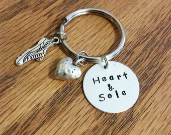 Heart & Sole Keychain Runners/Running/Running themed gifts