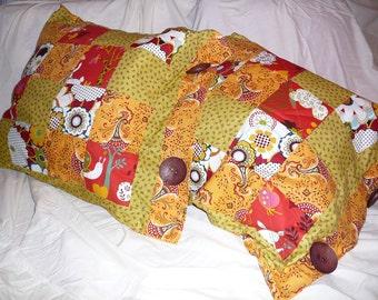 Bright scrappy decorative pillows