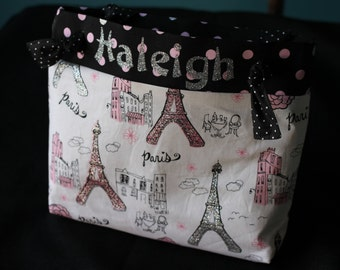 Paris in Pink personalized bag