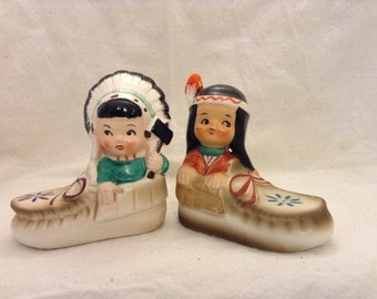 adorable indian children salt and pepper shaker
