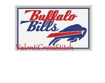 Buffalo Bills Cross Stitch Pattern, Football, sport, cross stitch patterns