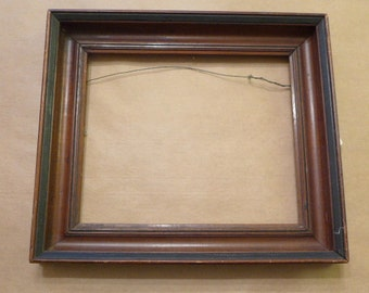 """Vintage Wood Picture Frame - 11 1/2"""" x 9 1/2"""" Opening - Antique Wood Picture Frame"""