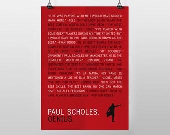 Paul Scholes - Genius (A3 POSTER PRINT)