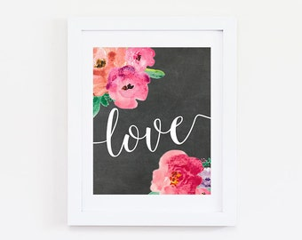 Love Quote Sign - Love Quote Print - Love Wall Art - Love Sign - Love Wall Decor - Love Artwork - Love Poster - Love Quote - Bedroom Decor
